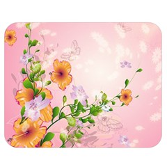 Beautiful Flowers On Soft Pink Background Double Sided Flano Blanket (Medium)