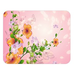 Beautiful Flowers On Soft Pink Background Double Sided Flano Blanket (Large)