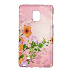 Beautiful Flowers On Soft Pink Background Galaxy Note Edge