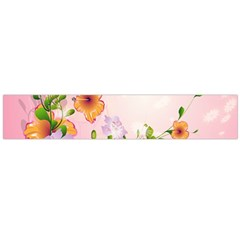 Beautiful Flowers On Soft Pink Background Flano Scarf (Large)