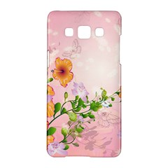 Beautiful Flowers On Soft Pink Background Samsung Galaxy A5 Hardshell Case