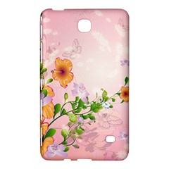 Beautiful Flowers On Soft Pink Background Samsung Galaxy Tab 4 (7 ) Hardshell Case