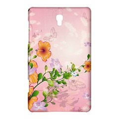 Beautiful Flowers On Soft Pink Background Samsung Galaxy Tab S (8 4 ) Hardshell Case