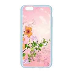Beautiful Flowers On Soft Pink Background Apple Seamless iPhone 6 Case (Color)