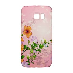 Beautiful Flowers On Soft Pink Background Galaxy S6 Edge