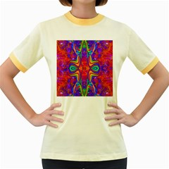 Abstract 1 Women s Fitted Ringer T Shirts