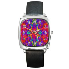 Abstract 1 Square Metal Watches