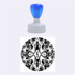 Abstract 1 Rubber Round Stamps (Medium)