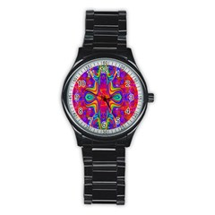 Abstract 1 Stainless Steel Round Watches