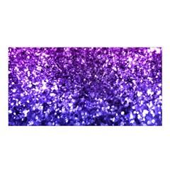 Midnight Glitter Satin Shawl