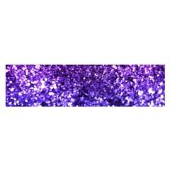 Midnight Glitter Satin Scarf (Oblong)
