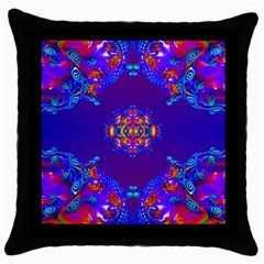 Abstract 2 Throw Pillow Cases (Black)