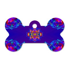 Abstract 2 Dog Tag Bone (one Side)