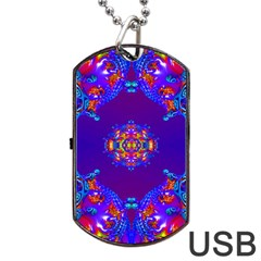 Abstract 2 Dog Tag Usb Flash (one Side)