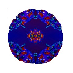 Abstract 2 Standard 15  Premium Round Cushions