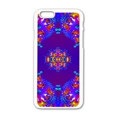 Abstract 2 Apple iPhone 6 White Enamel Case