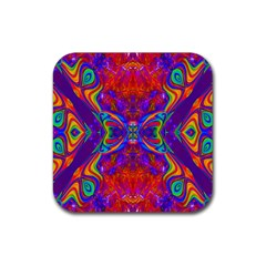 Butterfly Abstract Rubber Square Coaster (4 pack)