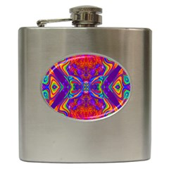 Butterfly Abstract Hip Flask (6 Oz)