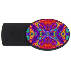 Butterfly Abstract USB Flash Drive Oval (1 GB)