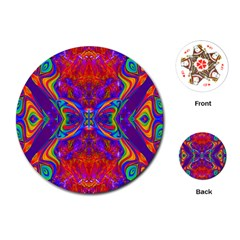 Butterfly Abstract Playing Cards (Round)