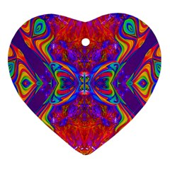 Butterfly Abstract Heart Ornament (Two Sides)