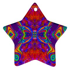 Butterfly Abstract Star Ornament (Two Sides)