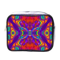 Butterfly Abstract Mini Toiletries Bag (one Side)