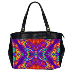 Butterfly Abstract Oversize Office Handbag (2 Sides)