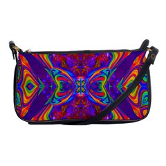 Butterfly Abstract Shoulder Clutch Bag