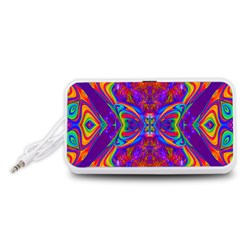 Butterfly Abstract Portable Speaker (White)
