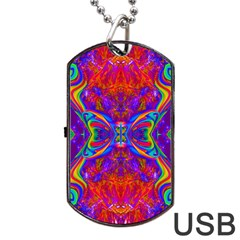 Butterfly Abstract Dog Tag USB Flash (Two Sides)