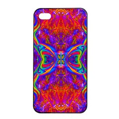 Butterfly Abstract Apple iPhone 4/4s Seamless Case (Black)