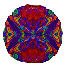 Butterfly Abstract Large 18  Premium Round Cushion