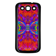Butterfly Abstract Samsung Galaxy S3 Back Case (Black)