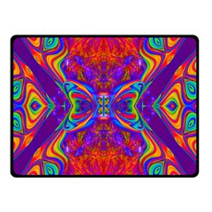 Butterfly Abstract Double Sided Fleece Blanket (small)