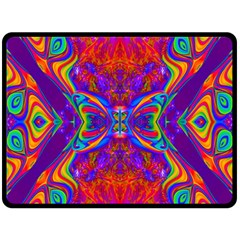 Butterfly Abstract Double Sided Fleece Blanket (Large)