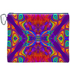 Butterfly Abstract Canvas Cosmetic Bag (xxxl)