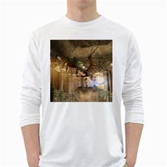 The Dragon White Long Sleeve T Shirts