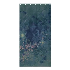 Vintage Floral In Blue Colors Shower Curtain 36  X 72  (stall)