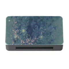 Vintage Floral In Blue Colors Memory Card Reader with CF