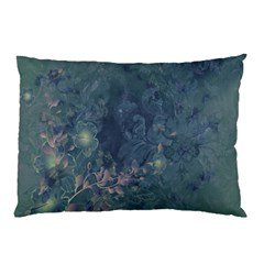 Vintage Floral In Blue Colors Pillow Cases (Two Sides)