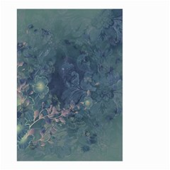 Vintage Floral In Blue Colors Small Garden Flag (two Sides)