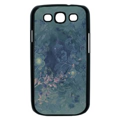 Vintage Floral In Blue Colors Samsung Galaxy S III Case (Black)