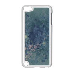Vintage Floral In Blue Colors Apple iPod Touch 5 Case (White)