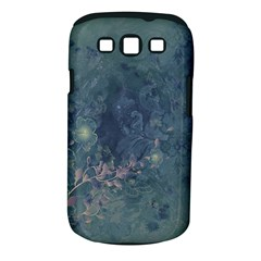 Vintage Floral In Blue Colors Samsung Galaxy S III Classic Hardshell Case (PC+Silicone)