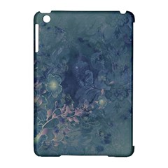 Vintage Floral In Blue Colors Apple Ipad Mini Hardshell Case (compatible With Smart Cover)