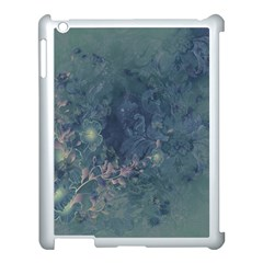Vintage Floral In Blue Colors Apple iPad 3/4 Case (White)