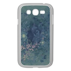 Vintage Floral In Blue Colors Samsung Galaxy Grand DUOS I9082 Case (White)