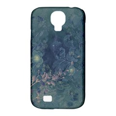 Vintage Floral In Blue Colors Samsung Galaxy S4 Classic Hardshell Case (PC+Silicone)