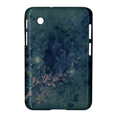 Vintage Floral In Blue Colors Samsung Galaxy Tab 2 (7 ) P3100 Hardshell Case
